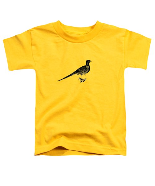 Pheasant Toddler T-Shirt by Mark Rogan