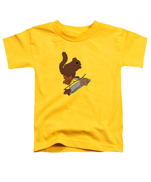 Squirrel Toddler T-Shirt by Priscilla Wolfe