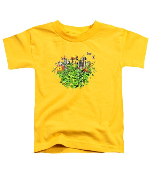 The Flowers Along The Fence  Toddler T-Shirt by Thom Zehrfeld
