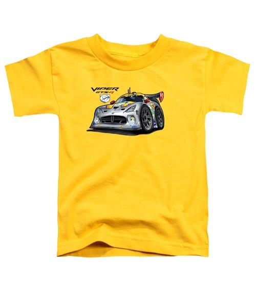 Viper Gts-r Car-toon Toddler T-Shirt by Steven Dahlen