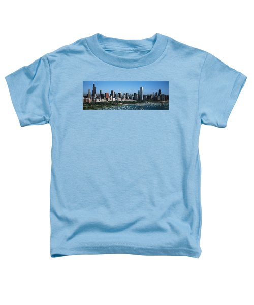 Aerial View Of Buildings In A City Toddler T-Shirt by Panoramic Images