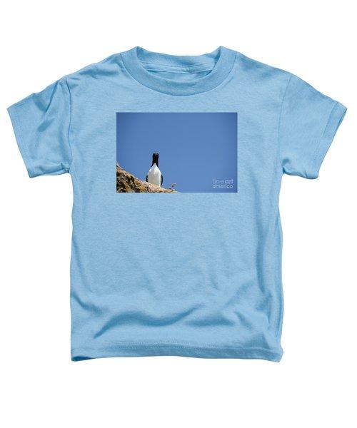 A Curious Bird Toddler T-Shirt by Anne Gilbert