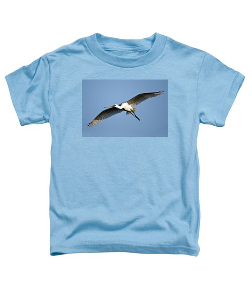 Low Angle View Of A Eurasian Spoonbill Toddler T-Shirt by Panoramic Images