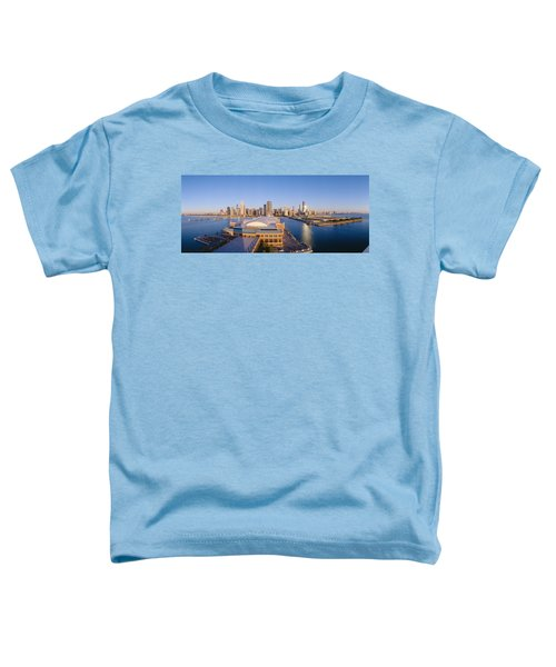 Navy Pier, Chicago, Morning, Illinois Toddler T-Shirt by Panoramic Images