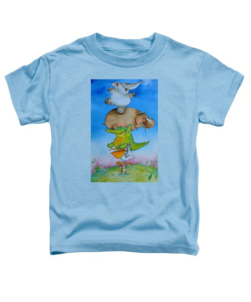 Super Mouse Pen & Ink And Wc On Paper Toddler T-Shirt by Maylee Christie