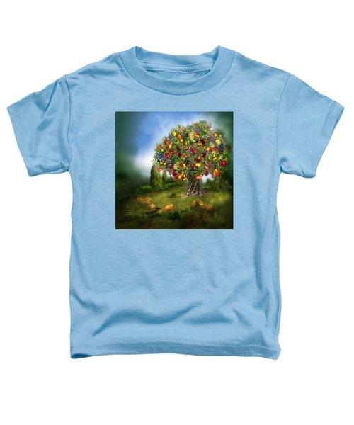 Tree Of Abundance Toddler T-Shirt by Carol Cavalaris