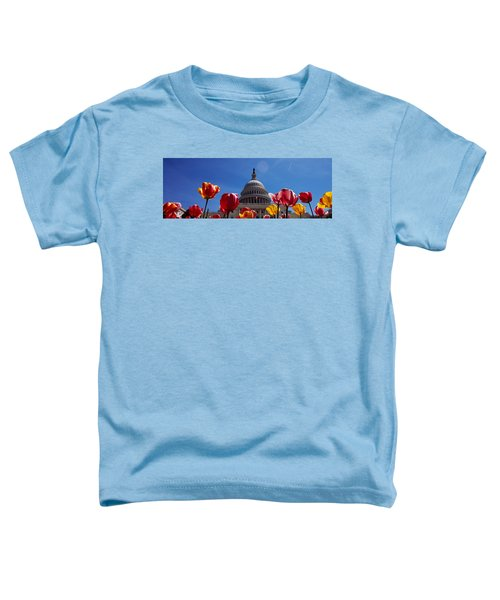 Tulips With A Government Building Toddler T-Shirt by Panoramic Images