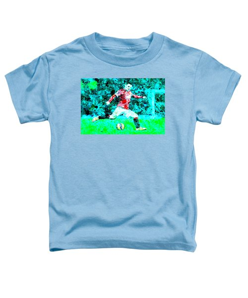 Wayne Rooney Splats Toddler T-Shirt by Brian Reaves
