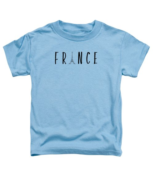 France Typography Panoramic Toddler T-Shirt by Melanie Viola