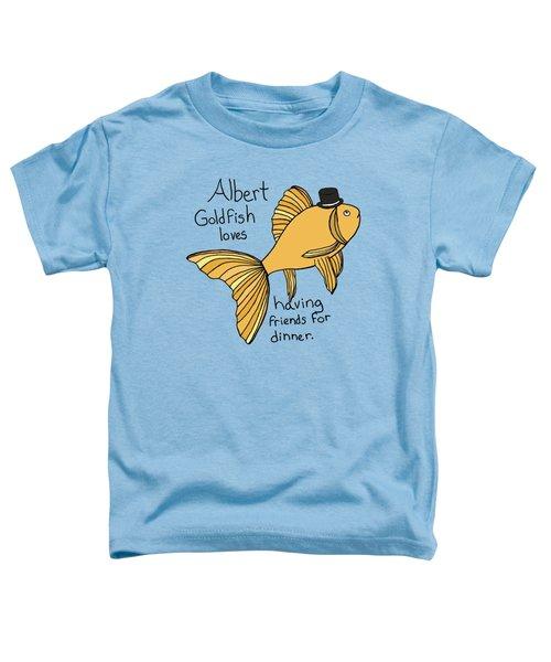 Albert Fish Toddler T-Shirt by Tamera Dion
