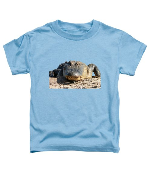 Alligator Approach .png Toddler T-Shirt by Al Powell Photography USA