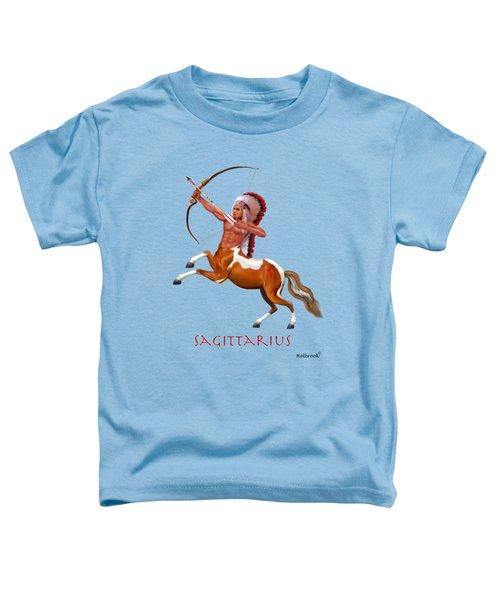 Native American Sagittarius Toddler T-Shirt by Glenn Holbrook
