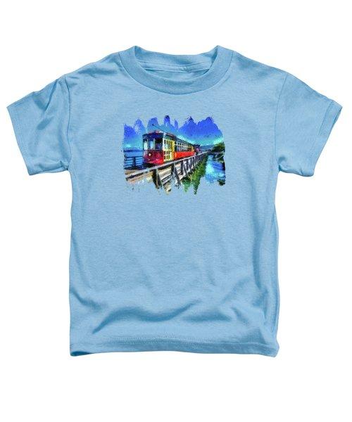 Astoria Riverfront Trolley Toddler T-Shirt by Thom Zehrfeld