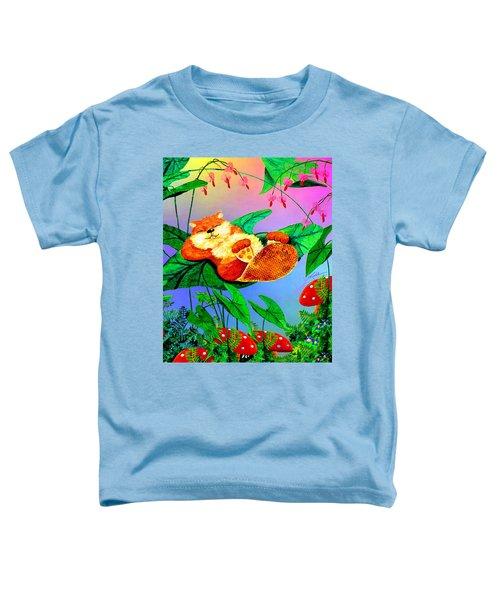 Beaver Bedtime Toddler T-Shirt by Hanne Lore Koehler