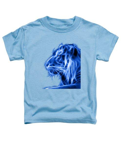 Blue Tiger Toddler T-Shirt by Shane Bechler