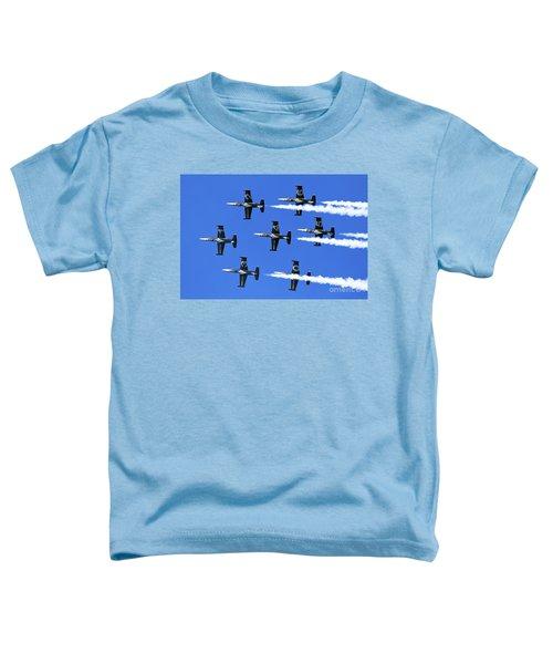 Breitling Air Display Team L-39 Albatross Toddler T-Shirt by Nir Ben-Yosef