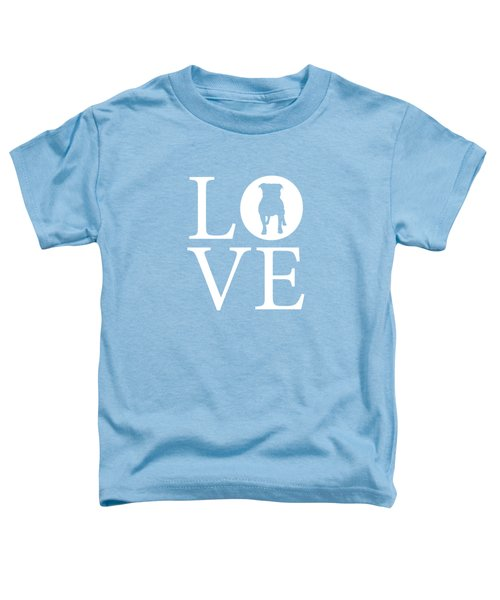Bulldog Love Toddler T-Shirt by Nancy Ingersoll