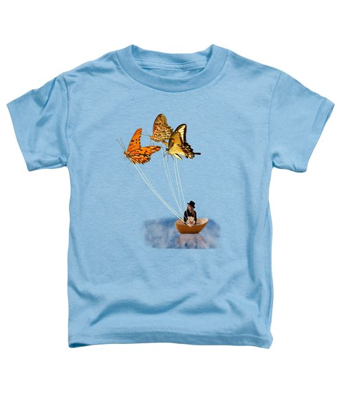 Butterfly Sailing Toddler T-Shirt by Linda Lees