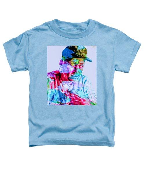 Cal Ripken Jr Baltimore Oriole Painted Digitally Toddler T-Shirt by David Haskett