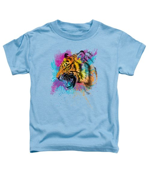 Crazy Tiger Toddler T-Shirt by Olga Shvartsur