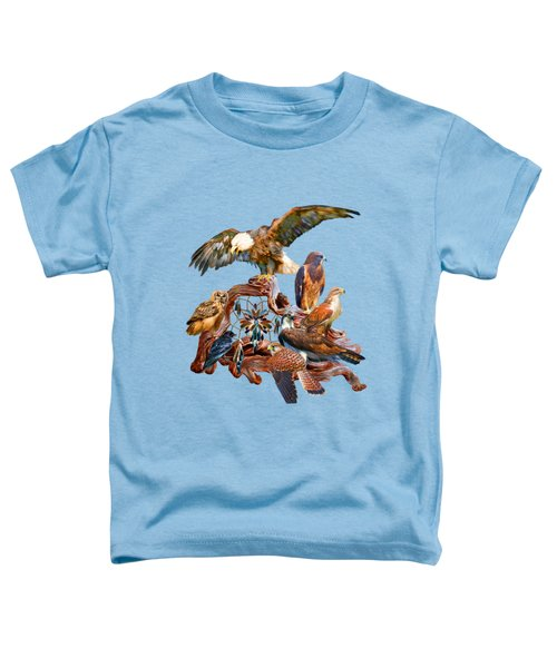 Dream Catcher - Spirit Birds Toddler T-Shirt by Carol Cavalaris
