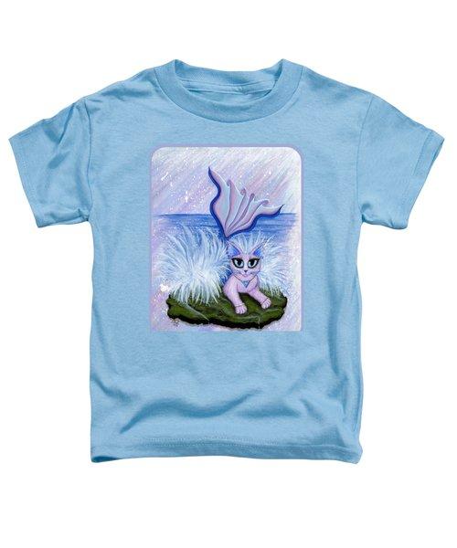 Elemental Water Mermaid Cat Toddler T-Shirt by Carrie Hawks