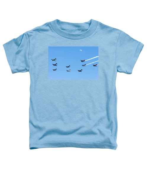 Fly Me To The Moon Toddler T-Shirt by Marco Oliveira