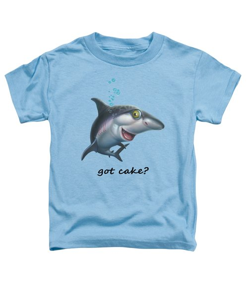 friendly Shark Cartoony cartoon under sea ocean underwater scene art print Toddler T-Shirt by Walt Curlee