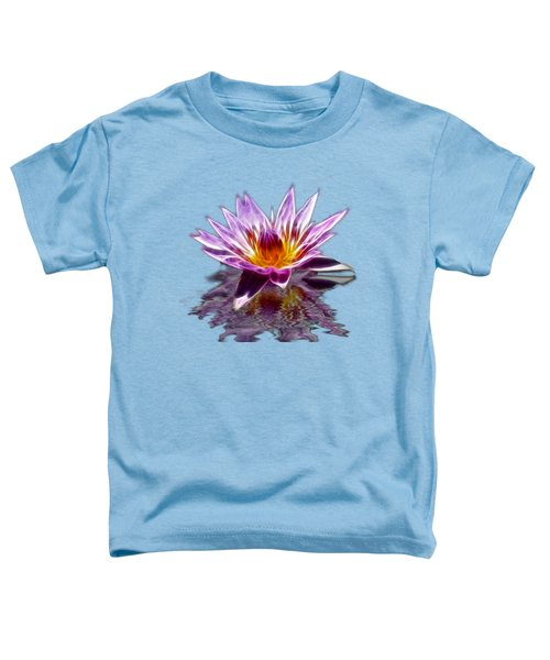 Glowing Lilly Flower Toddler T-Shirt by Shane Bechler