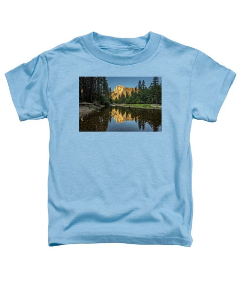 Half Dome From  The Merced Toddler T-Shirt by Peter Tellone