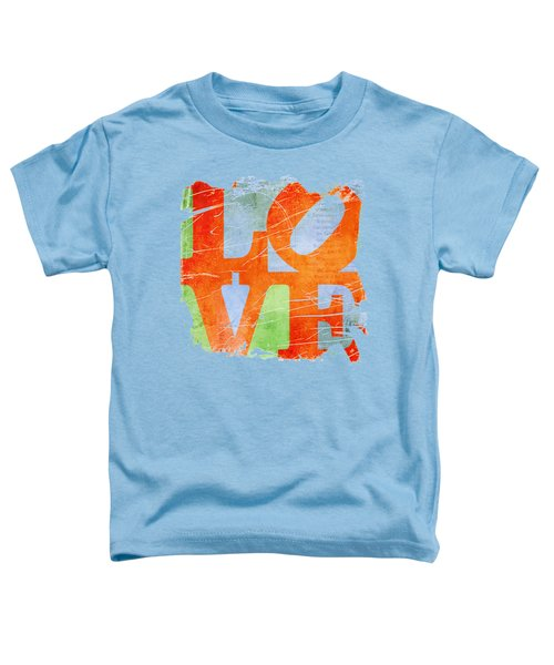 Iconic Love - Grunge Toddler T-Shirt by Paulette B Wright