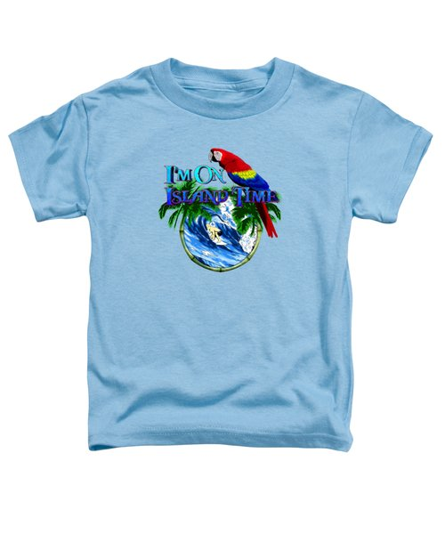 Island Time Surfing Toddler T-Shirt by Chris MacDonald