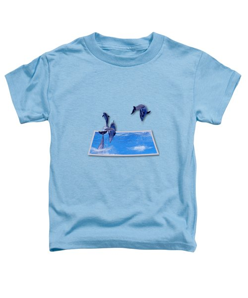 Leaping Dolphins Toddler T-Shirt by Roger Wedegis