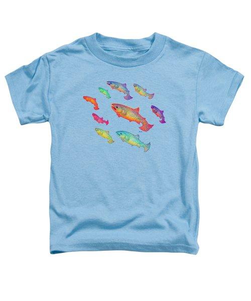Leaping Salmon Shirt Image Toddler T-Shirt by Teresa Ascone
