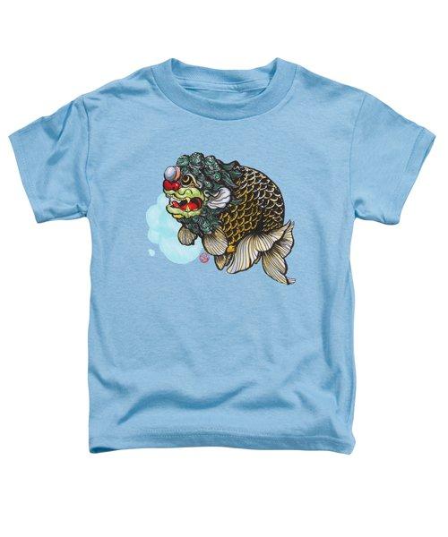 Lion Head Ranchu Toddler T-Shirt by Shih Chang Yang