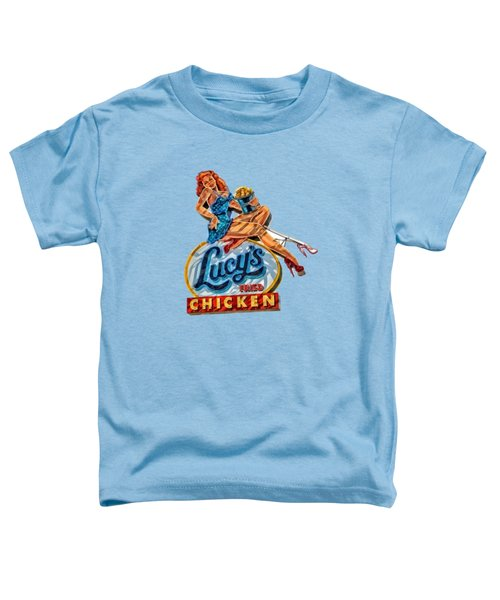 Lucys Fried Chicken Tee Toddler T-Shirt by Edward Fielding