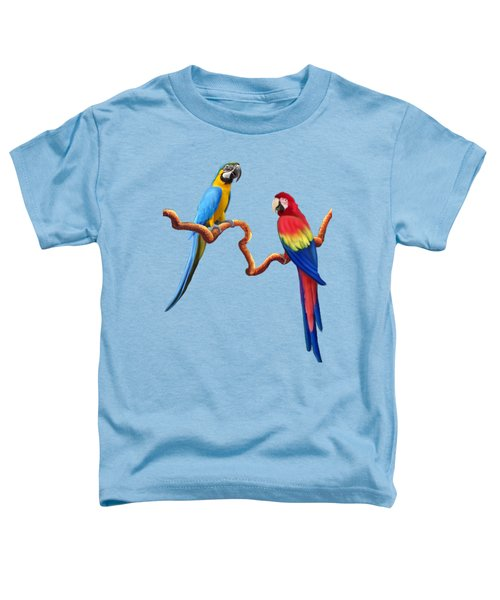 Macaw Tropical Parrots Toddler T-Shirt by Glenn Holbrook