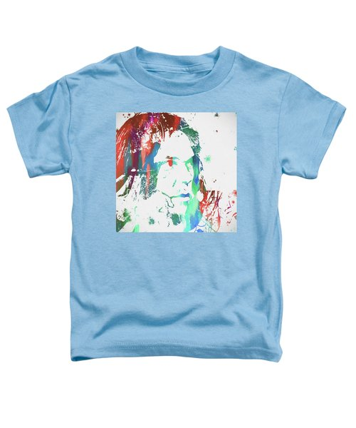 Neil Young Paint Splatter Toddler T-Shirt by Dan Sproul