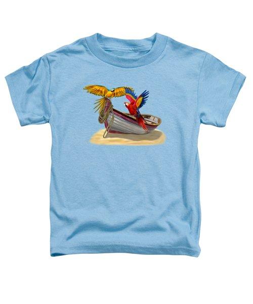Parrots Of The Caribbean Toddler T-Shirt by Glenn Holbrook