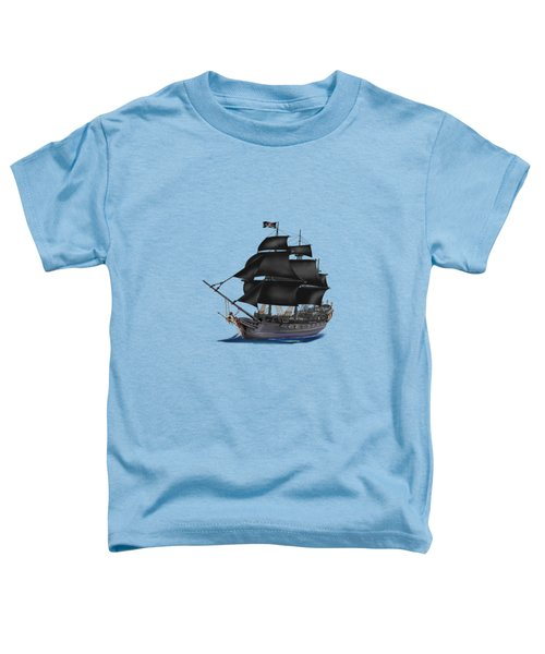 Pirate Ship At Sunset Toddler T-Shirt by Glenn Holbrook