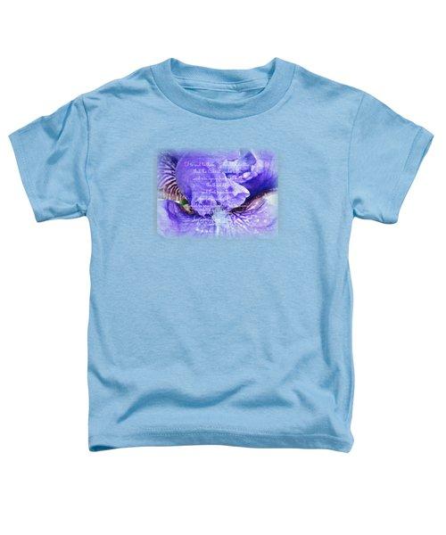 Pretty Purple - Verse Toddler T-Shirt by Anita Faye