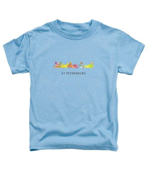 St Petersburg Florida Skyline Toddler T-Shirt by Marlene Watson