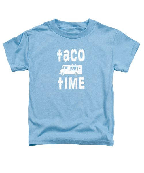 Taco Time Food Truck Tee Toddler T-Shirt by Edward Fielding