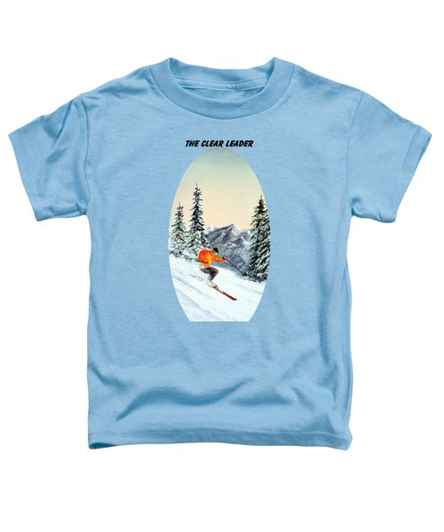 The Clear Leader Skiing Toddler T-Shirt by Bill Holkham