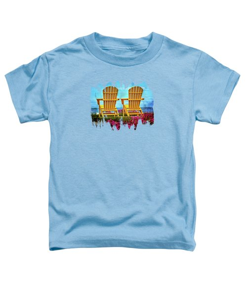 The Yellow Chairs By The Sea Toddler T-Shirt by Thom Zehrfeld