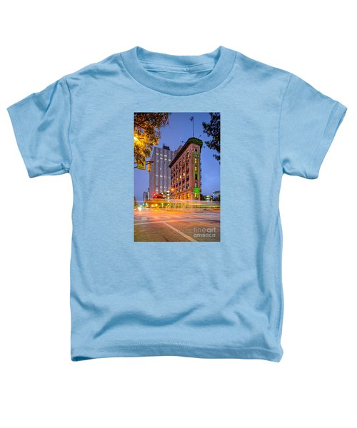 Twilight Photograph Of The Flatiron Building In Downtown Fort Worth - Texas Toddler T-Shirt by Silvio Ligutti
