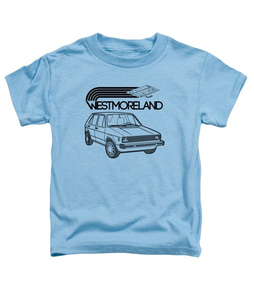 Vw Rabbit - Westmoreland Theme - Black Toddler T-Shirt by Ed Jackson