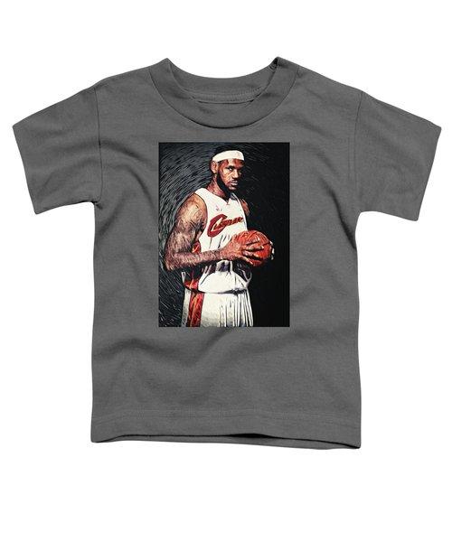 Lebron James Toddler T-Shirt by Taylan Soyturk