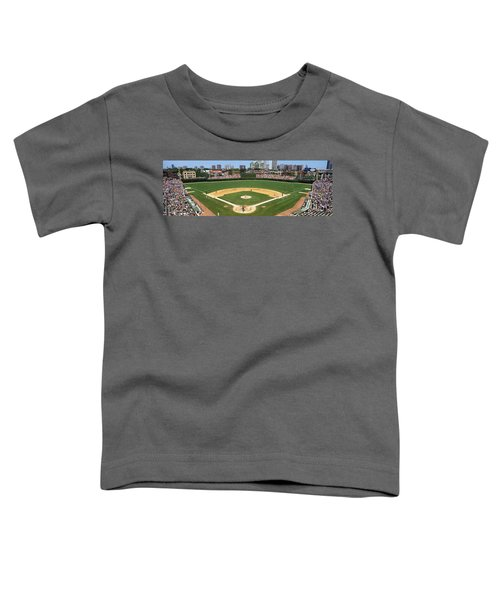 Usa, Illinois, Chicago, Cubs, Baseball Toddler T-Shirt by Panoramic Images