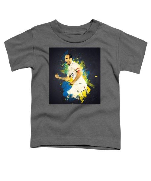 Landon Donovan Toddler T-Shirt by Taylan Soyturk